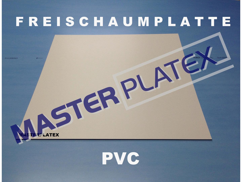 Gut Forex PVC-Platten weiss 1,0 bis 19,0 mm Stärke - Masterplatex  DX99