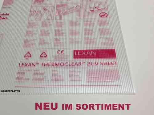 Hohlkammerplatte Lexan ® Thermoclear Plus UV